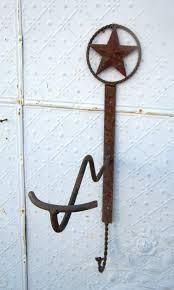 wrought iron cowboy hat hook coat rack