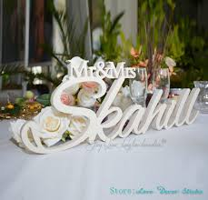 mr and mrs wedding signs custom large size mr mrs with last name mr and mrs last name