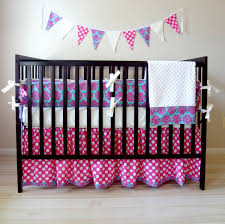 Teal And Purple Crib Bedding Unique Purple Damask Crib Bedding With Cool Pattern Idea Feat Eco