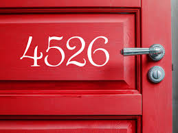 house number decal mailbox numbers address number stickers