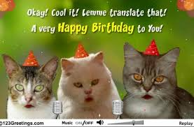 tag for images of birthday wishes with cat pictures happy