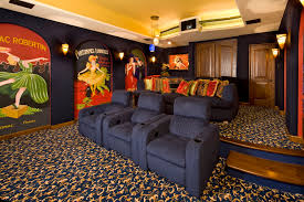 gorgeous elevated toilet seat in home theater traditional with