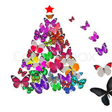 orange butterfly christmas tree decoration stock photo colourbox