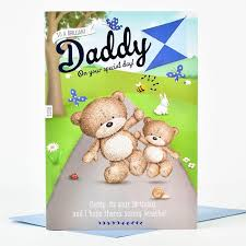 hugs birthday card special daddy only 99p
