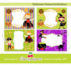 halloween bday party halloween themed invitation templates personal and commercial