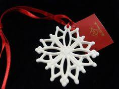 lenox 1999 china jewels ruby lace snowflake ornament side 2 of