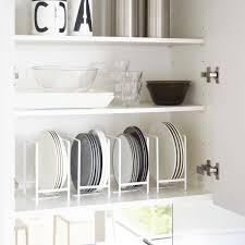 rangement cuisine pratique range assiette blanc rangement vertical vaisselle cuisine