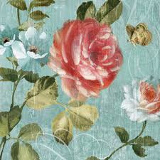 Vintage Rose Home Decor by Aliexpress Com Buy Light Blue Vintage Floral Roses Butterfly Oil