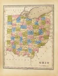 Map Of Ohio by Prints Old U0026 Rare Ohio Page