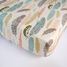 feather baby bedding plume fitted crib sheets changing pad