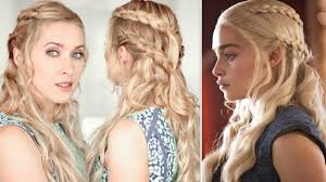 daenerys style hair game of thrones hair tutorial khaleesi daenerys braid hairstyle