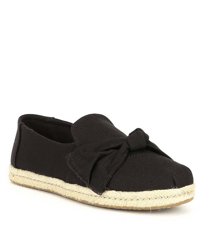 Toms Deconstructed Alpargata Rope Canvas Black Ankle-High Slip-On Shoes 7.5M