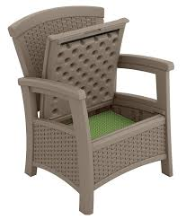 suncast elements outdoor furniture club chair with storage