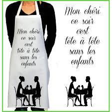 tablier de cuisine homme personnalisé tablier de cuisine rigolo tête à tête cadeau rigolo femme