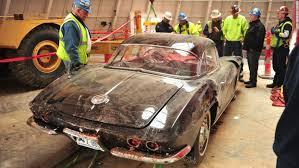 damaged corvettes for sale restored corvette damaged by museum sinkhole cnn travel