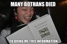 Many Bothans Died Meme - bookworm quickmeme
