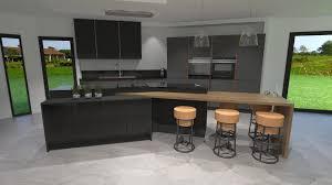cuisine gris anthracite cuisine grise et bois clair incroyable stunning meuble de cuisine