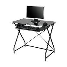 Black Tempered Glass Computer Desk Staples Tempered Glass Computer Desk Staples Polyvore