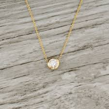 jewelry gold diamond necklace images 50ct bezel set diamond necklace in yellow jpg