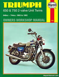 triumph bonneville trophy tiger 1963 1983 motorcycle owners