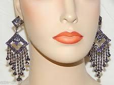 Sparkly Chandelier Earrings Black Crystal Chandelier Earrings Ebay