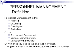 these meaning what are the meaning of personal management and also describe its