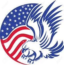 Eagles Flag Drawn Bald Eagle Flag Clip Art Pencil And In Color Drawn Bald