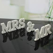 mr u0026 mrs wooden letters sign top table decoration wedding favor