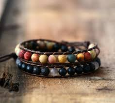 beaded bracelet leather images Wrap bracelets cool mix gemstones leather bracelets handmade jpg