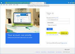 reset microsoft online services password reset password of user account in windows 10 windows 10 tutorials