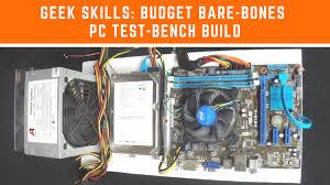 budget bare bones pc test bench build eric paul goldie