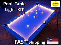 Led Pool Billiard Table Lighting Kit Light Your Pool Table Felt