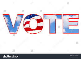 Why Is The American Flag Red White And Blue Vote American Flag Blue Sky Images Stock Photo 115235107