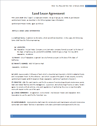 land lease agreement template land lease agreement template for word document hub