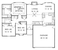 traditional style house plan 3 beds 2 00 baths 1242 sq ft plan