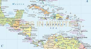 america map political central america caribbean basic political map 10m scale in