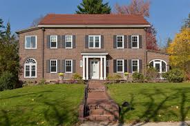 Clasic Colonial Homes Renovated Classic Center Hall Brick Colonial New York Luxury