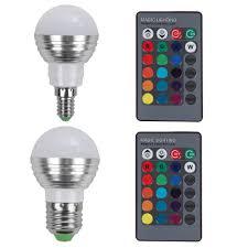 heat generating light bulbs e27 e14 led rgb bulb l ac110v 220v 5w 16 colors led rgb spot