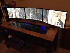 Computer Desk Mod Computer Pc Desk Mod Modification Setup Gaming Computer Rig Inside