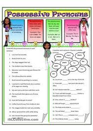 pronouns possessive pronouns 2 worksheet free esl printable
