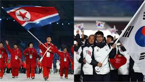 South Korea Flag North And South Korea To March Under One Flag At Winter Olympics