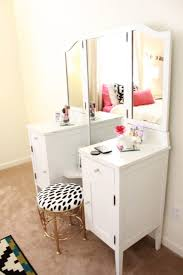 Tall Vanity Stool Makeup Vanity Comely Tall U Shaped White Wooden Corner Makeup
