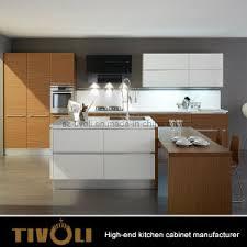 Shiny White Kitchen Cabinets China Customized Modern Natural Veneer And High Gloss White