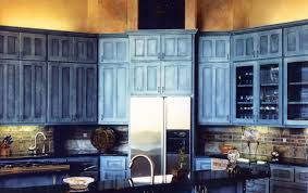 scenic rustic blue kitchen cabinets pure blue country kitchen
