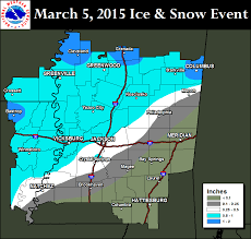 Jackson Ms Map Nws Jackson Ms March 5 2015 Winter Weather