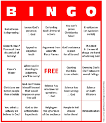 a bingo card for bad christian arguments u2013 friendly atheist
