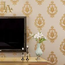 Wallpaper For Living Room Damask Wallpaper Blue Promotion Shop For Promotional Damask
