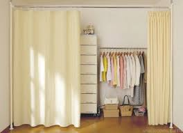Closet Curtain Curtain Ideas For Closets Decorate The House With Beautiful Curtains