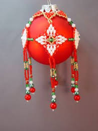 pattern for beaded christmas ornament cover merry christmas