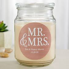 personalized candle mr mrs personalized scented wedding candles